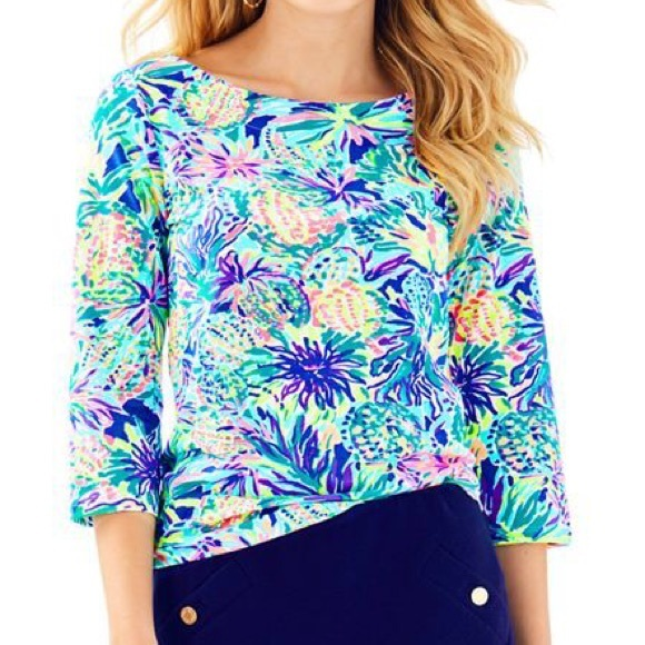 "Lilly Pulitzer Tops - Lilly pulitzer waverly top ""junipero"""